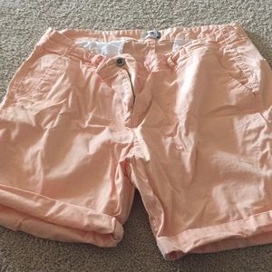 Orange Khaki Shorts size 16 Old Navy